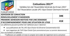association locale ufc que choisir adhesion cotisation