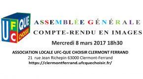 ASSEMBLÉE GÉNÉRALE ANNUELLE 8 MARS 2017, COMPTE-RENDU EN IMAGES