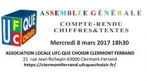 ASSEMBLÉE GÉNÉRALE ANNUELLE 8 MARS 2017, COMPTE-RENDU DÉTAILLÉ